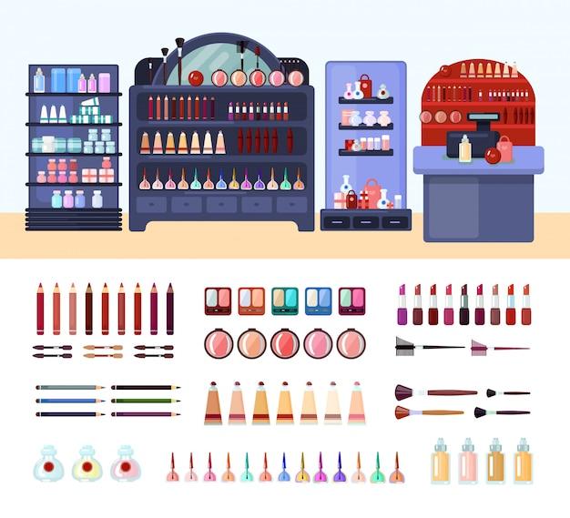 健康と美容店の構成