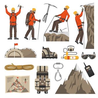 登山の登山のアイコンを登る