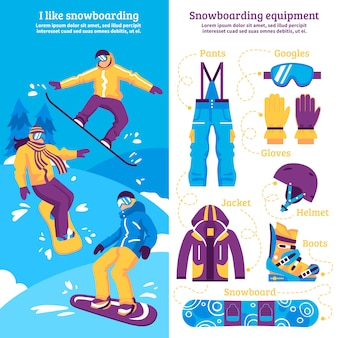 スノーボード垂直バナー