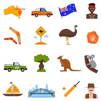 Набор иконок австралии