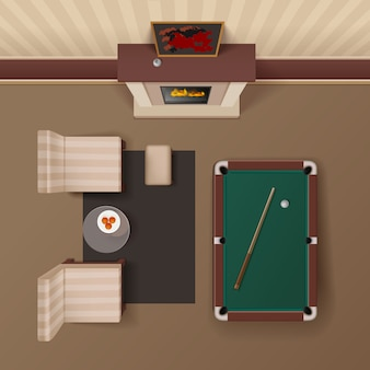 ホテルの客室ラウンジ
