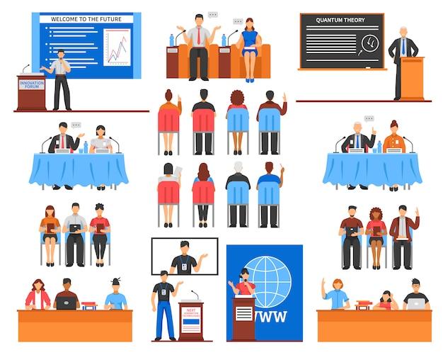 Набор элементов конференции