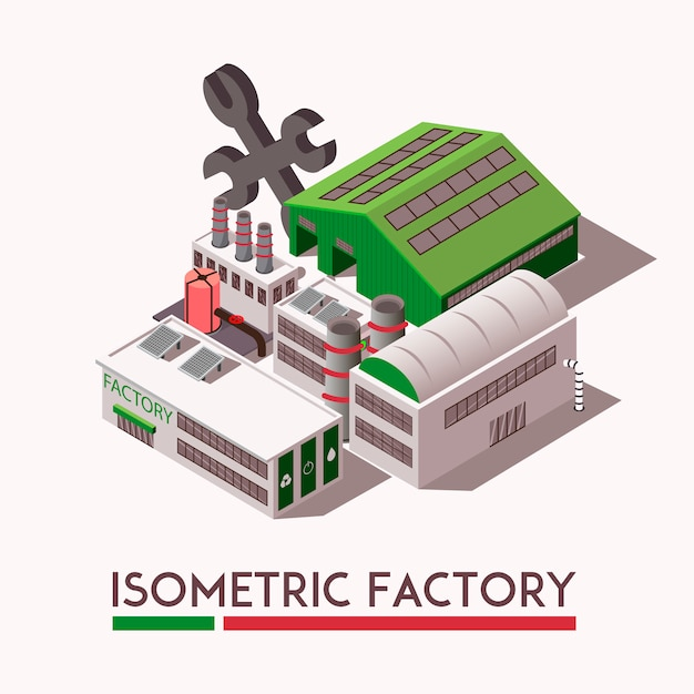 Фабрика изометрические набор