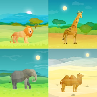 Набор животных фон