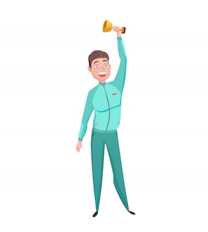 スポーツマンゴールドカップ優勝者キャラクターフラット