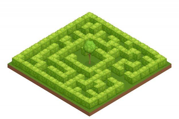 庭の迷路等尺性組成物