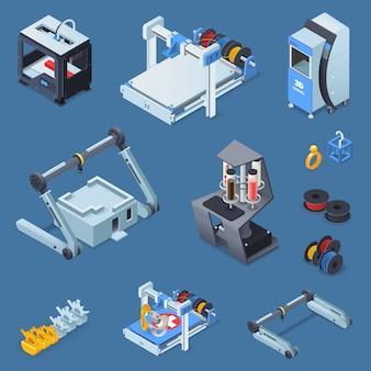 Печать изометрические набор