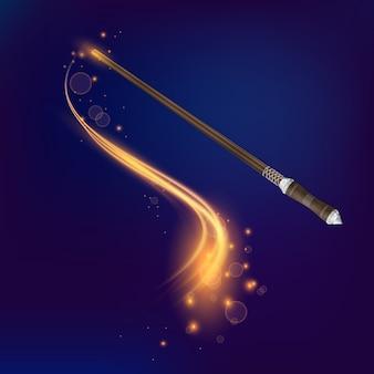 Волшебная палочка реалистичная композиция