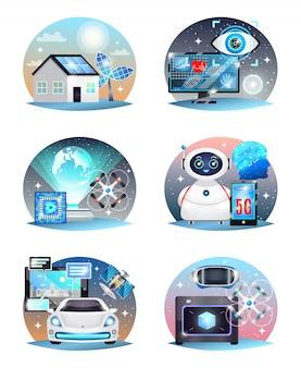 Набор технологий будущих композиций