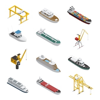海と川の船等尺性のアイコンを設定