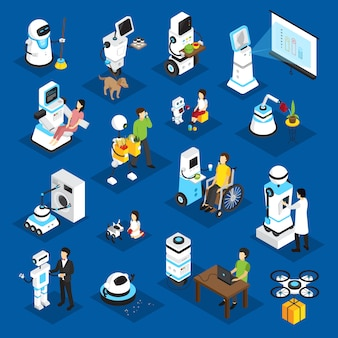 Роботы изометрические набор