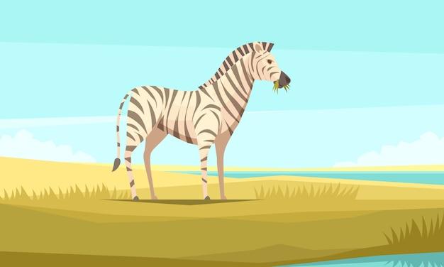 Зебра природа фон