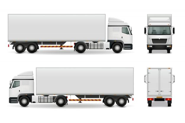 Реалистичный тяжелый грузовик
