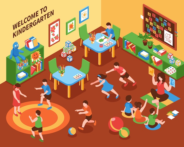 幼稚園インテリア等尺性組成物