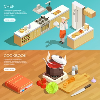 Набор кухонных баннеров
