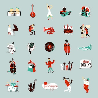 Набор джазовых музыкантов