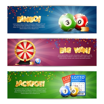 Набор баннеров джекпот лотереи