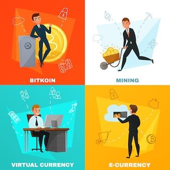 Концепция криптовалюты биткойн