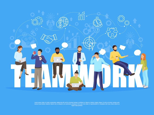 Иллюстрация концепции коллективной работы