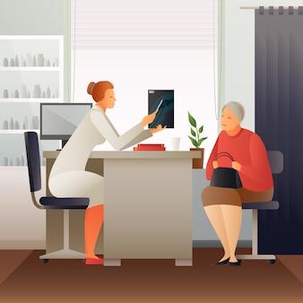 Назначение у терапевта плоская композиция