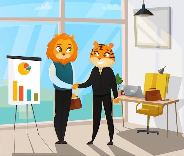 ビジネス動物のポスター