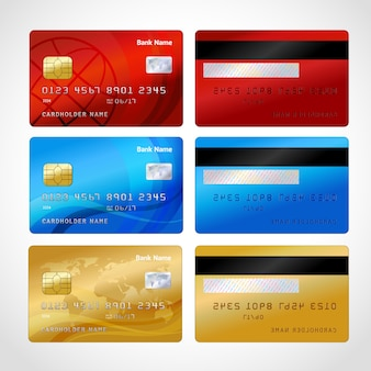 Реалистичные кредитные карты