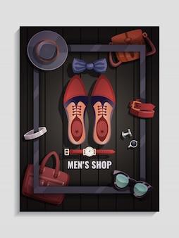 Плакат с мужскими аксессуарами