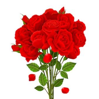 バラの花束イラスト