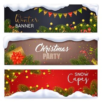 Набор рождественских баннеров