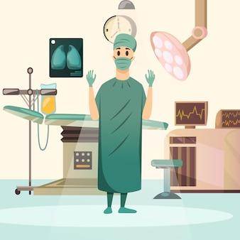 Поражение рака хирургии ортогональной композиции