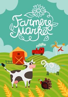 Плакат о фермерском рынке