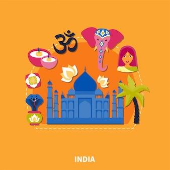 インドの背景への旅行