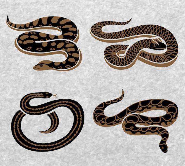 Набор черных змей
