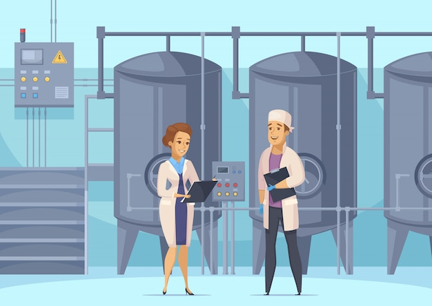 Иллюстрация молочного производства