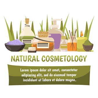 Натуральный косметологический баннер