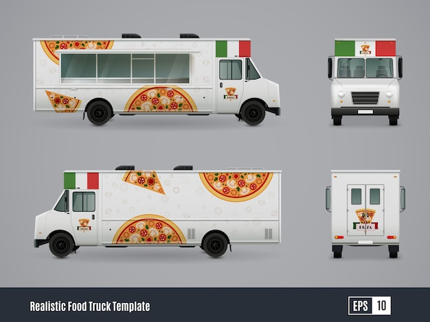 Мобильная пиццерия грузовик