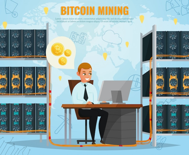 Криптовалюта биткойн иллюстрация