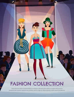 Мода коллекция иллюстрация