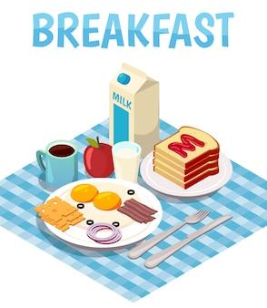 朝食アイソメトリック