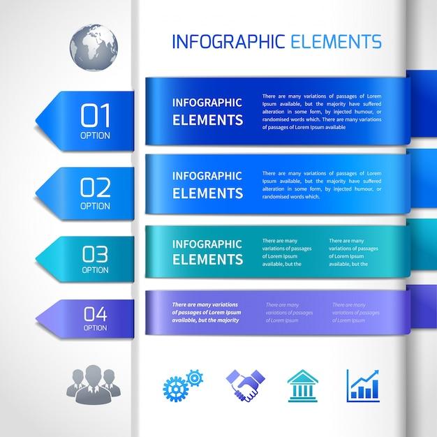 Абстрактные элементы дизайна инфографики