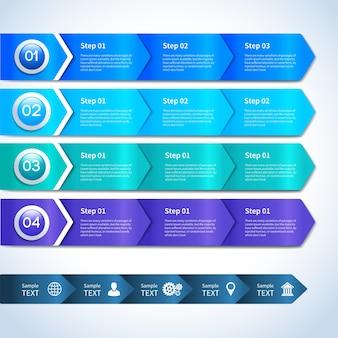 Абстрактные бумажные деловые инфографические элементы