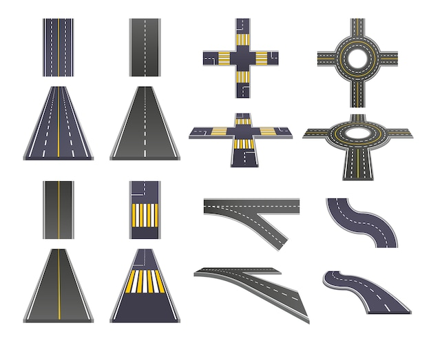 Набор перспективных деталей для дороги