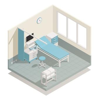 Больница медицинское оборудование изометрические