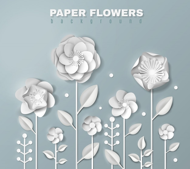 Реалистичные бумажные цветы