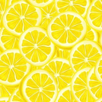 スライスされたレモンのシームレスな背景