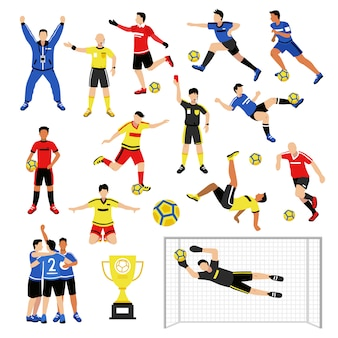 Набор членов футбольной команды