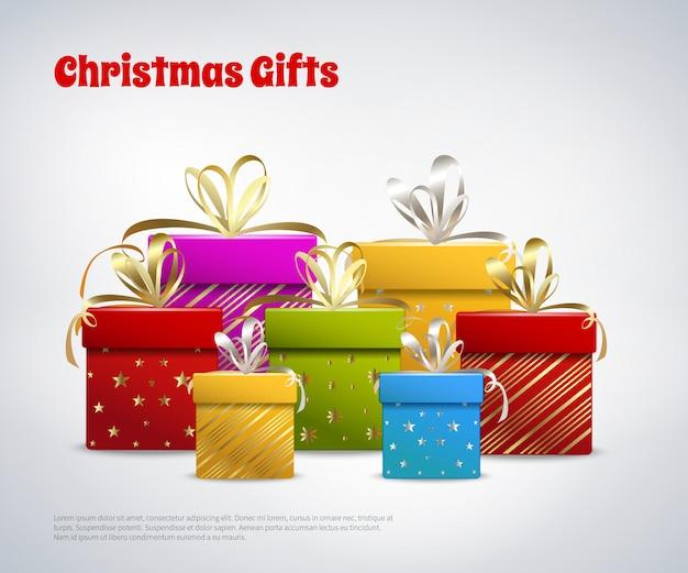 Шаблон рождественских подарков