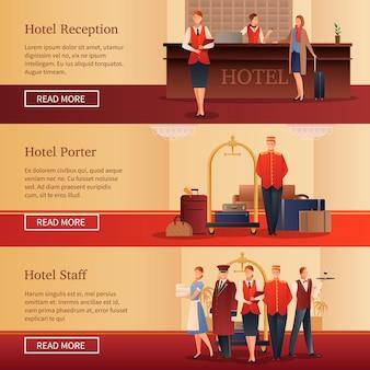 Персонал отеля плоские баннеры