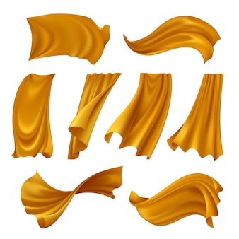 Реалистичный золотой тряпичный набор