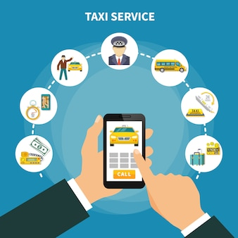 Смарт такси приложение композиция